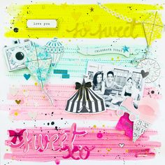 I'm so excited to have my first online class EMBELLISHED! on 👍🏻😍😁 here's another layout I made and I LOVE it! 🌸 go sign… Scrapbook Storage, My Scrapbook, Project Life Scrapbook, Grid Design, Big Picture, Scrapbooking Layouts, Learning, My Love, Projects