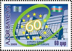 Azerbaijan stamps | ... Europe 60th anniversary - Azerbaijan stamp | Flickr - Photo Sharing