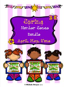 """Number Sense Spring Bundle: April, May, June from Mickey""""s Place on TeachersNotebook.com -  - Number Sense Spring Bundle: April, May, June is a comprehensive unit on involving students to practice their number sense skills."""