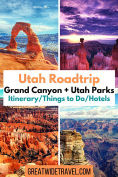 Things to do, hikes to try, places to eat, where to camp, stay, and how to space out your time on an out west roadtrip. #GrandCanyon #ArchesNationalPark #Zion #Canyonlands #BryceCanyon #CapitolReef #UtahParks #Roadtrip #OutWest