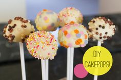 I don't think I've ever heard anybody utter the phrase 'I don't like cake pops'. Hence why they're the perfect party favor or beautiful addition to a dessert table! And the best news? They last up to 2 weeks in the fridge! So there's no need for last minute baking stress, simply whip up a batch in advance and leave them ready for when you need them! I can't promise that they won't be eaten before that date though... You will need: ♥ A cake mix (mine was vanilla!) ♥ Cake frosting ♥ Cake pop…