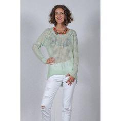 Pulover Dama VERO MODA Millo Aqua Foam White Jeans, Fashion, Moda, Fashion Styles, Fashion Illustrations