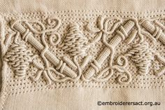 Detail of Casalguidi from pouch stitched by Robyn Duncan ~ Embroiderers Guild ACT