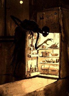 """Visual Necromancy"": The Amazing Art By Boris Groh - Art ideas Dark Creatures, Weird Creatures, Mythical Creatures, Creepy Drawings, Amazing Drawings, Amazing Art, Arte Horror, Horror Art, Art Jokes"