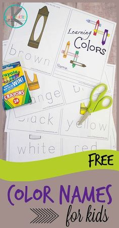FREE Color Words Printable - this NO PREP free printable will help kindergarten, preschool, prek, and toddlers learn color words. Preschool Color Activities, Free Preschool, Preschool Printables, Preschool Learning, Preschool Activities, Toddler Preschool, Fun Learning, Preschool Worksheets, Learning Centers