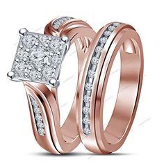1.30Ct.tdw Round Sim.Diamond 925 Silver Flower Fashion Style Bridal Ring Set #aonedesigns