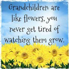 Grandkids are like flowers!