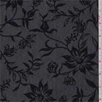 Black Floral Mesh