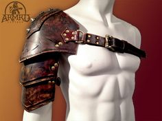 Ornate Leather Shoulder Armour - LARP