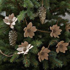 Winter Flower Garland   west elm