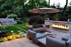 Lovely warm modern garden design to bring your family together. #warm #gardening
