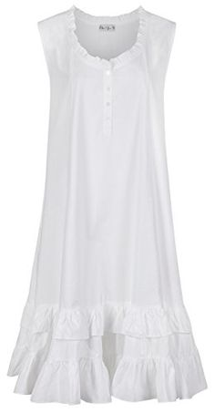 8bbaf25a42 The 1 for U Sleeveless Cotton Nightgown - Layla - White (XS)