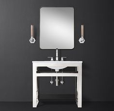 Bowery Single Washstand With Glass Shelf