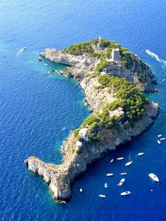 Ligalli Islands Amalfi Coast, Italy | Is it just me or does this look like a dolphin?