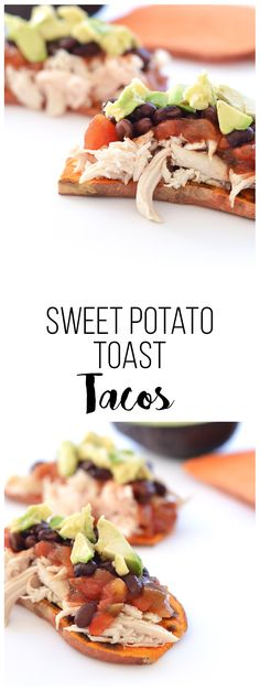 Sweet Potato Toast Taco from the Dr. Oz Show - perfect no grain and gluten free option!
