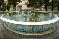 Funny fountain in Costa del Silencio, Tenerife