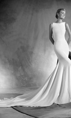Pronovias Eimi wedding dress currently for sale at 28% off retail.