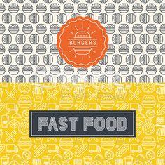 Vector fast food package design elements - arte vetorial de acervo royalty-free