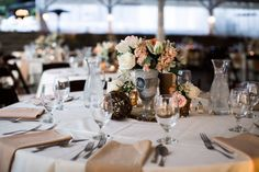 Floral arrangements in mercury glass vases and rustic touches #cedarwoodweddings Marvelous Mint and Gray Wedding :: Emily+Jon | Cedarwood Weddings