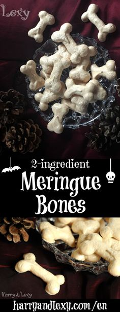 These cute meringue bones are the perfect Halloween recipe - they are super easy to make and require only 2 ingredients that you probably already have.