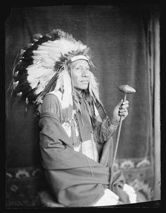"Portraits of Native Americans who performed in ""Buffalo Bill's Wild West""-1898 (Luke Big Turnips)"