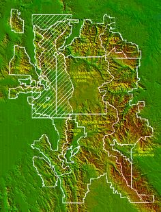 yellowstone ecosystem | Fig. 8-1. Shaded relief map of the Greater Yellowstone Ecosystem with ...