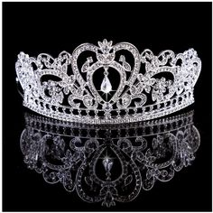 Casualfashion Elegant Women's Gold/Silver Tone Tiaras Crowns Bridal Wedding Crystal Rhinestone Headband Hair Accessories -- Be sure to check out this awesome product.