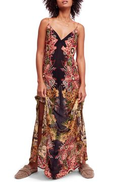 f89bec45c45 online shopping for Free People Wildflower Print Maxi Slipdress from top  store. See new offer for Free People Wildflower Print Maxi Slipdress