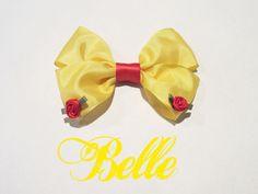Belle Inspired Disney Hair Bow