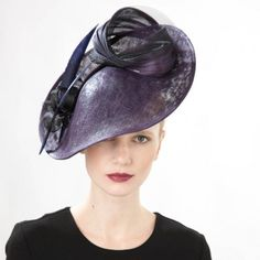 Jane Taylor Millinery AW 2014 Uvite- Disc with Feather & Twist