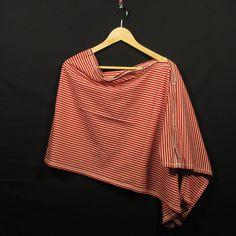 (Still-) Poncho - rot/weiß von Tante Julante* auf DaWanda.com