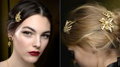 Dolce&Gabbana Fall Winter 2015 2016 jewelled brooches and headbands