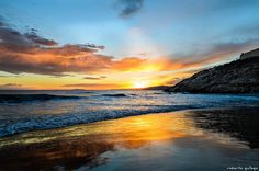 Sunset in Salou Bright Side Of Life, Celestial, Sunset, Places, Travel, Outdoor, Sunsets, Calla Lilies, Pictures