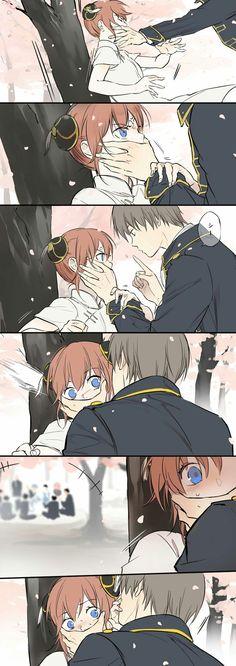 Sougo Okita x Kagura [OkiKagu], Gintama Anime Sexy, Anime Sensual, Manga Anime, Anime Naruto, Anime Love Couple, Cute Anime Couples, Anime Comics, Manga Romance, Okikagu Doujinshi