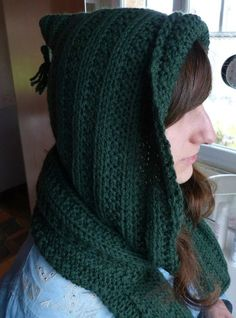 Petits tricots 2013 tuto tricot écharpe - capuche Knitted Hats, Crochet Hats, Cowl, Hui, 2013, Hoodies, Knitting, Women, Galerie Creation
