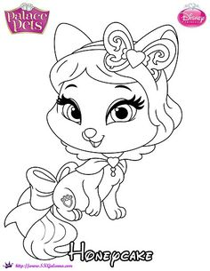 Princess Palace Pets Coloring Page of Honeycake | SKGaleana