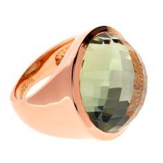 Green Amethyst Ring von Rockberries.com