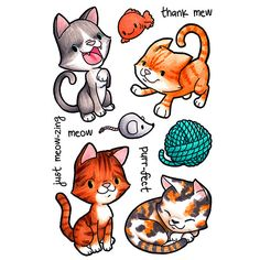 Clever Kittys Clear Stamp | Some Odd Girl stamps – SomeOddGirl