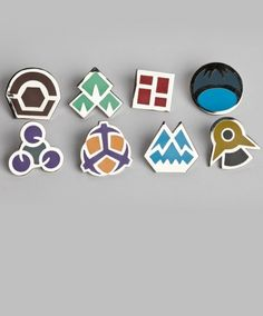 Gym Badges: Gen 4 by Sanshee $24.99