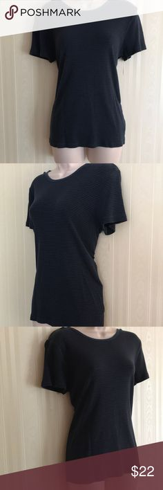 GAP black and navy blue striped top NEVER WORN Never worn, but has been washed.  Soft and classic cotton blend. GAP Tops