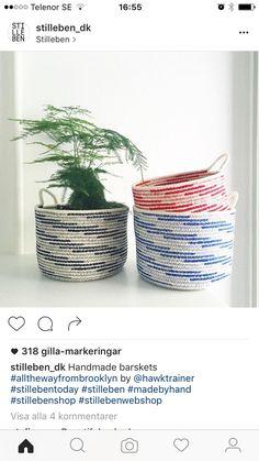 Wicker Baskets, Planter Pots, Handmade, Home Decor, Hand Made, Decoration Home, Room Decor, Home Interior Design, Home Decoration
