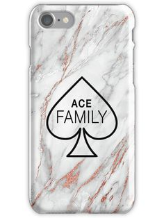 Buy 'Ace Family, Rose Gold Marble' by Lux Design as a iPhone Case or Case/Skin for Samsung Galaxy