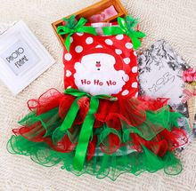 2016 new girls Christmas Dot people dress suit children cotton dress Christmas red baby clothes BB122(China (Mainland))