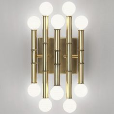 Meurice 5-Arm Wall Sconce (Antique Brass) - OPEN BOX RETURN by Jonathan Adler Lighting at Lumens.com