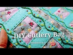DIY Cutlery Bag / Cutlery Zip Bag 餐具袋 #HandyMumLin Quilting Tips, Cutlery, Hand Embroidery, Shabby, Pouch, Quilts, Stitch, Zip, Sewing Ideas