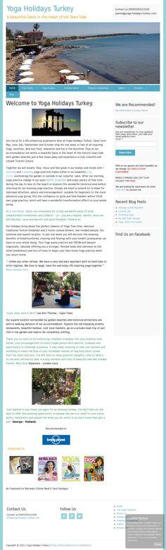 The website 'www.yoga-holidays-turkey.com' courtesy of @Pinstamatic (http://pinstamatic.com)