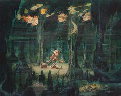 50 Beautiful Pieces Of Concept Art From Classic Disney Movies - Pinocchio by Gustaf Tenggren Walt Disney, Disney Love, Disney Art, Punk Disney, Disney Style, Disney Animation, Animation Film, Studio Ghibli, Dreamworks
