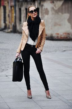 This Pin was discovered by Alex Glez. Discover (and save!) your own Pins on Pinterest. | See more about leather jackets, black scarves and tan leather.