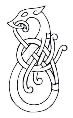 Viking Flash 1 by DarkSunTattoo on DeviantArt Art Viking, Viking Dragon, Celtic Dragon, Celtic Patterns, Celtic Designs, Celtic Symbols, Celtic Art, Celtic Tribal, Bordados Viking