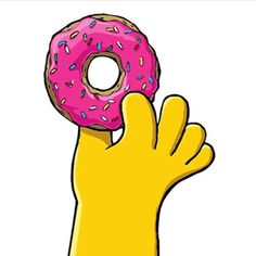 The Simpsons│ Los Simpson - - - - - - Simpsons Donut, Simpsons Toys, Simpsons Party, The Simpsons Movie, Simpsons Characters, Homer Simpson, O Simpson, Homer And Marge, Simpsons Tattoo